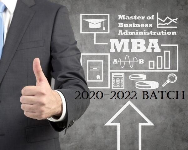 MBA 2020-'22