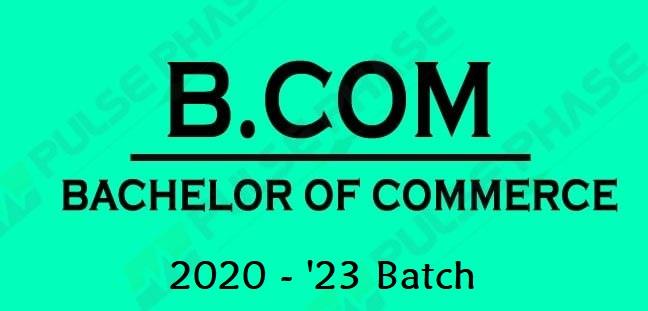 B. Com. Batch 2020 - 2023